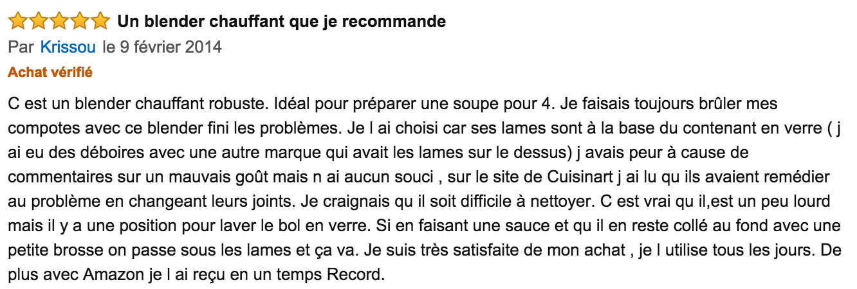 commentaire Cuisinart Soup Maker SSB1E