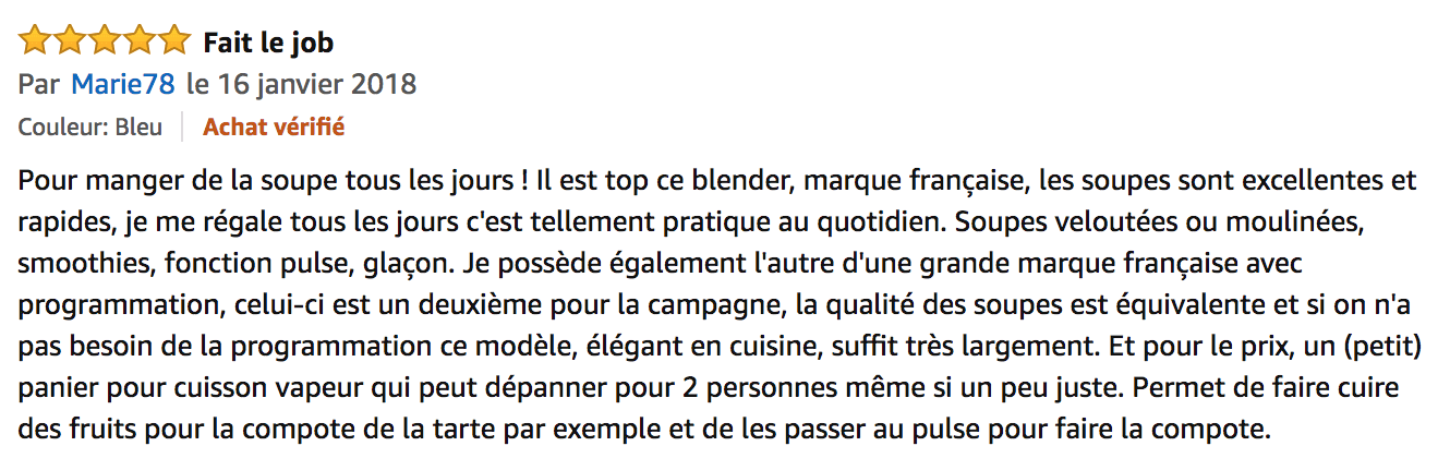 commentaire senya cook ice